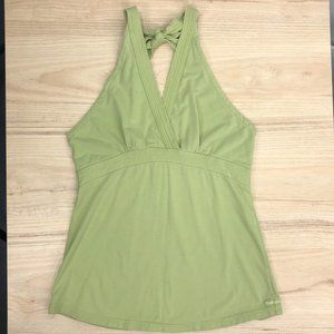 American Eagle S Green Stretch Cotton Halter Top G